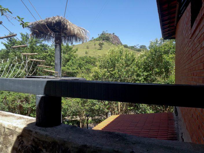 Vista para a pedra grande do hotel fazenda parque dos sonhos