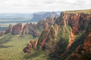 Vista das montanhas da chapada mato grosense
